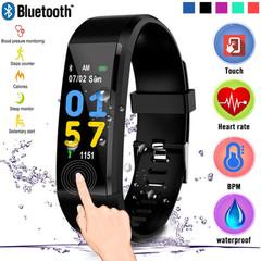 2019 New Digital Smart Watch Men Women Heart Rate Monitor Fitness Tracker Smartwatch Sport Watch black