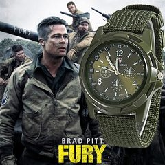 1PCS Men Gemius Army Watch Military Watch Quartz Movement Men Sports Watch Casual Wristwatches army green