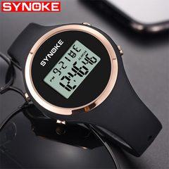 1 PCS SYNOKE Women Watch Sport LED Digital Waterproof Lady Fitness Smartwatch Swimming Digital Clock black