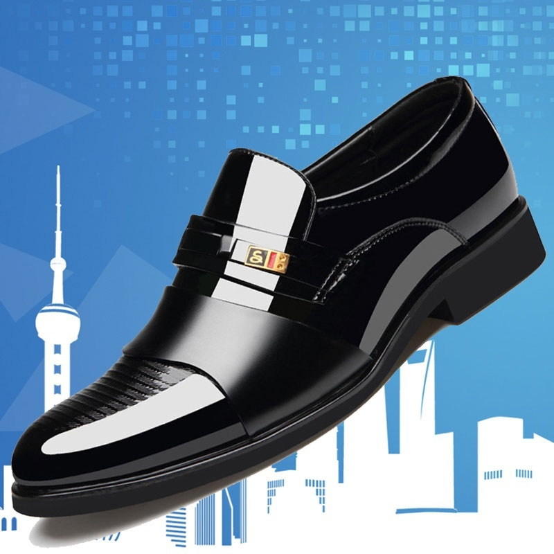 a2bba45b53 New Promotion Men Leather Formal Shoes Pointed Leather Shoes Men Wedding  Shoes Work Shoes for Men brown 38