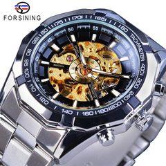 1 PCS Arken Men Watches Full Golden Mechancial Automatic Skeleton Watch Mens Watch Mechanical watch gold