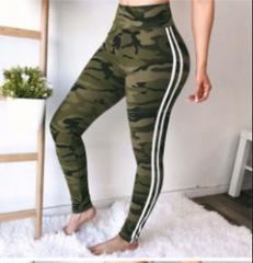 Best selling explosions sexy camouflage solid color ribbon side sweatpants red 2XL camouflage S