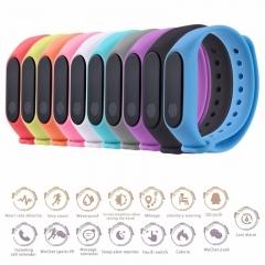 Ryan World Waterproof Heart Rate Monitor Smart Bracelet Fitness Tracker Pedometer Wristband black
