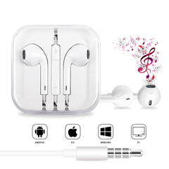 Android And Apple Universal Headset In-ear Hifi Sound Quality Remote Control And Microphone White