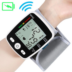 Wrist Digital Blood Pressure Monitor Automatic Sphygmomanometer Smart Medical Measure Pulse Rate Whtie One size