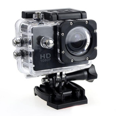 Full HD Digital Sport Camera 2 Inch Screen Under Waterproof 30M DV Recording Mini Bicycle Video Cam black one size