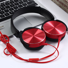 New XB450 Headphones Game Wire Headset Bass Music Mobile Computer Universal Foldable Stereo Headset Red