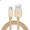 Micro USB Cable 2A Quick Charge Nylon Material Fast Data Transmission Android 1M Charging Cable GOLD one size