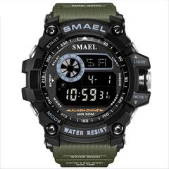 SMAEL8010 Men's Sports Watch Waterproof And Shockproof Luminous Display Electronic Watch Dark green green