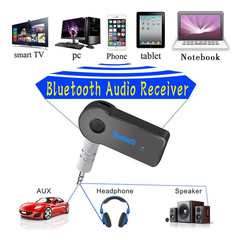 Bluetooth Car Music Receiver 3.5mm AUX Audio Jack Car A2DP Wireless Bluetooth Music Receiver Adapter black one size
