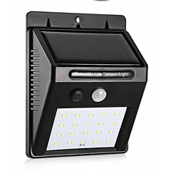LED Solar Power Wall Light Outdoor Waterproof Yard Path Lamp black as picture