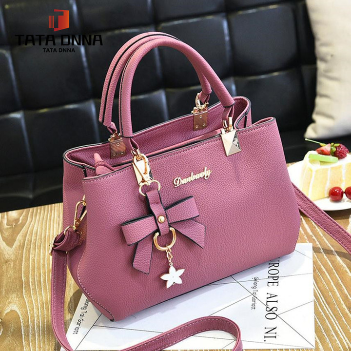 Promotion of New Fashion Styles, Promotion, Handbags, Sloping Single Shoulder Bags in 2019 pink 27cm*19cm*10cm