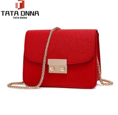 Women Bags PU leather Messenger Bag Clutch Bags Designer Mini Shoulder Bag Women Handbag red one size