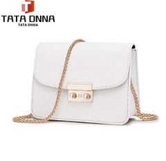 Women Bags PU leather Messenger Bag Clutch Bags Designer Mini Shoulder Bag Women Handbag white one size
