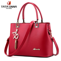 Fashion Women Leather Crossbody Bag Shoulder Bag Messenger Bag Hangbag red one size