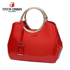 Promotion of new women's bags,Patent Leather Women Bag Ladies Cross Body Shoulder Bags Handbags red one size