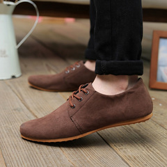 low price one day snapped up,Men Casual suede Soft Lace Up Loafers Sneakers Sport Shoes coffee 39