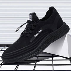 Men Casual Shoes Breathable Male ShoesShoes Outdoor Shoes Sneakers Men black 39
