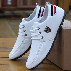 Hot Sale New Men's Shoes,Men Casual Shoes, Men's Leisure Canvas Shoes Beans Shoes white 39