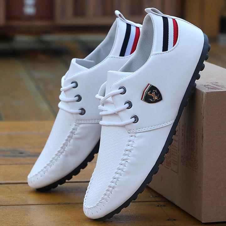 Hot Sale New Men's Shoes,Men Casual Shoes, Men's Leisure Canvas Shoes Beans Shoes white 39