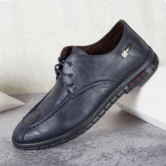 Fashion Quality men's casual breathable soft bottom soft leather business casual shoes driving shoes black 39
