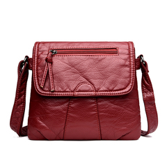 Brand Women Messenger Bags Crossbody PU Leather Shoulder Bag High Quality Women Bags Handbags red 25cm*22cm*3cm