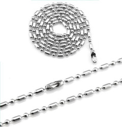Wild card  Stainless steel slub chain  O chain Slub chain silver 60cm