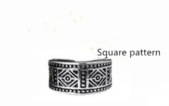 men geomeric Man vintage men's wedding ring to the Silver Jewelry vintage dately men Ring Square pattern one size