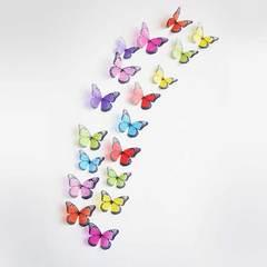MCDFL 18 Pcs/Lot 3D Crystal Butterflies Wall Sticker Butterfly Stickers Kids Room DIY Home Decor Art 104 18 pcs/lot