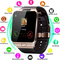 Wearable Smartwatch Camera SIM/TF Bluetooth Smart Watch Multifunction Digital WristWatch for Android gold