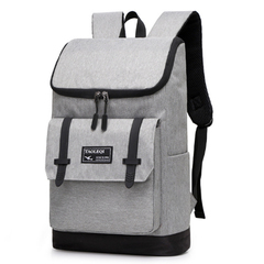 Lightweight Travel Day Pack College Student School Backpack Waterproof Laptop Backpack Light Grey One Size