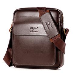 PU Leather Shoulder Bag Messenger Bags Small Travel Business Crossbody Bag brown Large