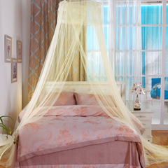Round Lace Dome Bed Canopy Netting Princess Mosquito Net Bed Canopy Bed Curtains from Ceiling beige 60cm round diameter