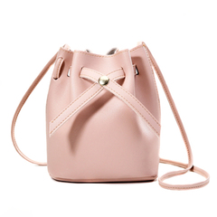 Small Bucket Bag Handbag Shoulder Bags Cross Body Purse Handbags with Long Shoulder Strap pink one size