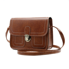 Ladies Vintage Small Messenger Bag Shoulder Handbag Cross Body Purse Bags Handbags brown one size