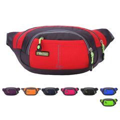 Nylon Running Belt Waist Pack Outdoor Sports Jogging Fanny Bag Hip Bum Cell Phone Pouch Case Wallet deep blue 19 x 10 x 14 cm