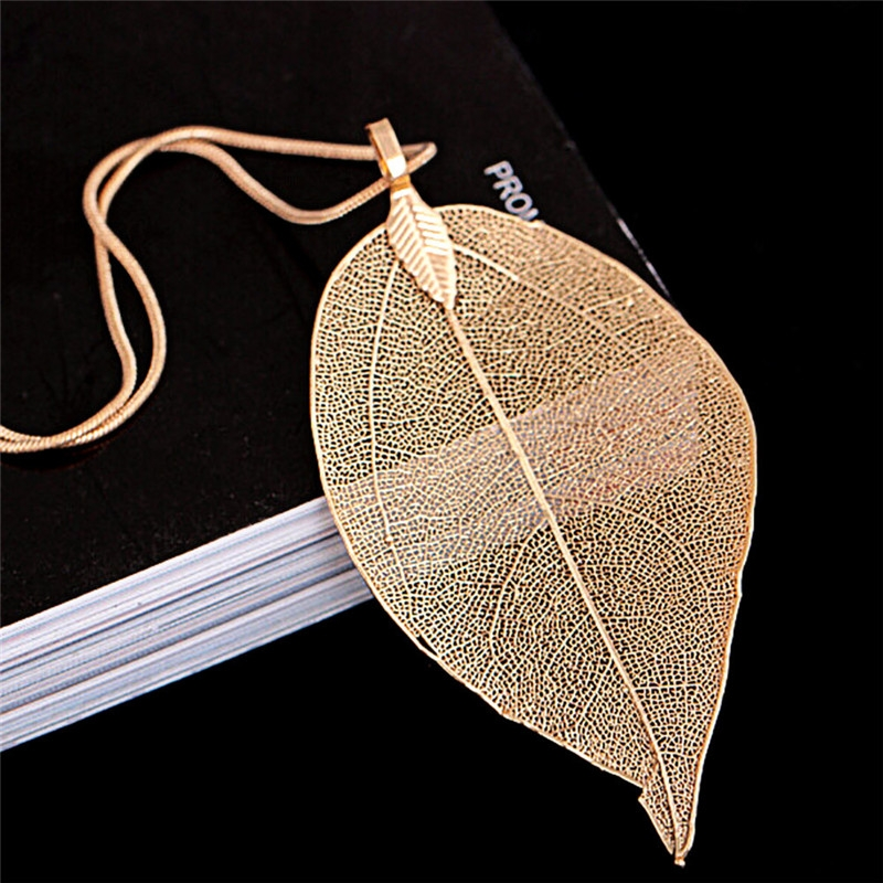 a30b475b654 Sweater Coat Necklaces Ladies Girls Special Leaves Leaf Pendant ...