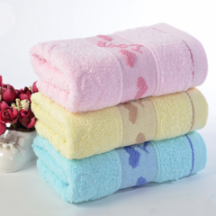 6pcs/set 100% cotton soft Bath towel,indoor sports towel, Bathing Towel,Baby Towel for family 3 colors random 33*74 cm