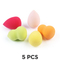 5Packs Cheaper Makeups Sponge Cosmetic Puff for Face Cover fashion Water proof Hot sale&Discount Random Colors