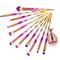 4\12\20pcs Brushes Makeup Tools Foundation Eyebrow Eyeliners Blush Cosmetic Concealer Brush Girls 12pcs-Pink&Silver&Golden