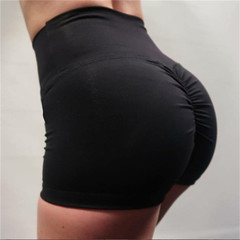 Casual Yoga Shorts for Women Summer Shorts Fashion Sports Shorts Gym Workout Waistband Black S