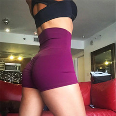 Casual Yoga Shorts for Women Summer Shorts Fashion Sports Shorts Gym Workout Waistband Rose Red S