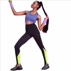 Women's High Waist Leggings-Super Soft Slim Pants, working&sport suits for ladies Yoga Leggings Bright Green S