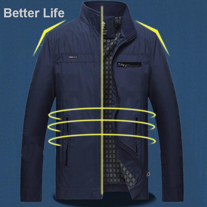22a9b5f09 Mens Casual/Business Jacket Outdoor Sportswear Windbreaker Lightweight  Bomber Jackets and Coats Blue M