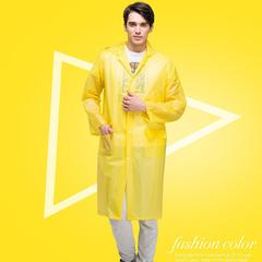 Portable Raincoats Rain Poncho with Hoods and Sleeves, fashion Rain Coats for women/men&Rain Wears Yellow XL