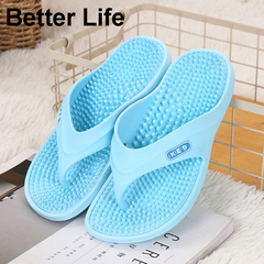 Women's Soft Home Massage Flip Flops Fashion Thong Slippers Beach Sandals Ladies Shoes for mother Blue 36