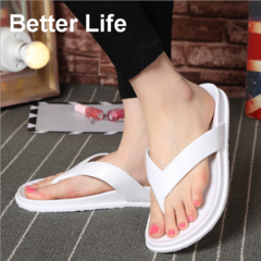 Comfort Thong Style Sandals & Flip Flops for Women with Arch for Comfortable Walk, home slippers White 36