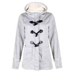 9 Colors autumn Long Coats cotton Long sleeve Ladies Hooded Jackets with cap&pockets Women's Suit Light Grey 5XL
