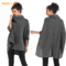 Full Size Soft Ladies Sweaters Batwing Sleeve Cloaks High Neck Solid Color Shawls Coffee Black Free size