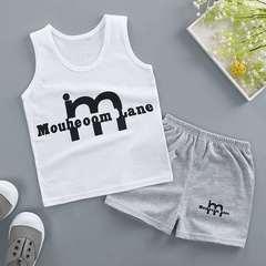 D-baby 2Pcs Kids Baby Girls Cat sleeveless shirt+ shorts Outfits Clothes Set XJ001B 80(6-12M)